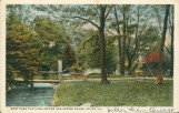 West Park Pavilion, Bridge and Spring House, Joliet, Ill.