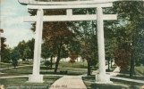 Japanese Torii and Government Park, Soo, Mich. [now Canal Park, Sault Ste. Marie, Mich.]