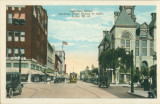 Jefferson Street Showing Court House to Right, Joliet, Ill.