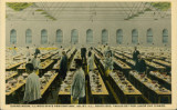 Dining Room, Illinois State Penitentiary, Joliet, Ill., Seats 1200, Table Set for Labor Day Dinner.