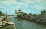 Tow Leaving Brandon Lock, Joliet, Illinois