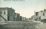 Washington St. Looking West, Morris, Ill.