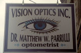 Vision Optics sign, 127 E. 9th Street, Lockport, IL