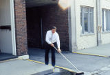 Clean Sweep, man with broom, State Street, Lockport, IL (1)