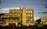 Rear view of old hotel building, 933 S. State Street, Lockport, IL