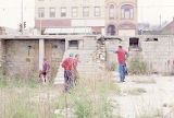 Clean Sweep, five people cleaning empty lot, State Street, Lockport, IL