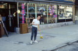Clean Sweep, man with broom, State Street, Lockport, IL (4)