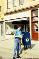 Clean Sweep, man with broom, State Street, Lockport, IL (3)