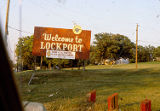 Welcome to Lockport sign, Route 171, Lockport (Ill.)