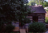 Pioneer log cabin, Lincoln Landing, Lockport, IL