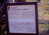 The Public Landing sign, alongside I&M Canal, 8th and State Street, Lockport, IL