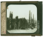 World's Columbian Exposition lantern slides: Alaskan Village Totem Poles, Midway Plaisance
