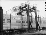 Zephyr Vista Dome car being washed