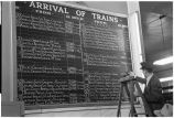 Denver, Colo. 2. Posting times of arrival of trains--Union Station