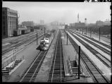 Westbound passenger train at Halsted St. Station