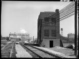 Union Avenue railroad control tower, Chicago, May 1948