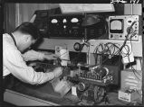 Repairing radio unit-part of two way radio control-Clyde yards