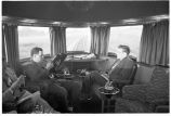 Observation-lounge car of Denver Zephyr en route to Denver