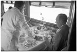 Dining car of Denver Zephyr en route to Denver
