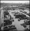 Aurora-Burlington storehouse-View of portion of yard