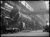 Steam locomotive repair shop-W. Burlington, Iowa