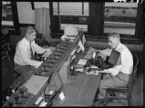 Telegraphers in division communication office, Galesburg, Ill.