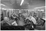 Chicago. 4. Parlor observation car of Denver Zephyr at Union Station
