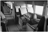 Passenger on train en route from Sheridan, Wyoming to Alliance, Nebraska