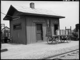 CB&Q station at Nodaway, Iowa