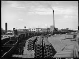 General view of car repairing and rebuilding plant, Havelock, Nebraska
