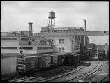 Omaha-Railroad tracks leading to flour mill