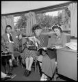 Mrs. Scott Rader, Knoxville farm wife, takes the Zephyr to Chicago for a shopping tour