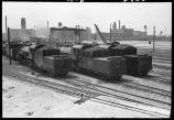 Locomotives and coal cars, Western Avenue rail yards, Chicago, May 1948