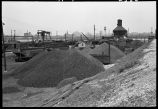 Coal piles, Western Avenue yards, Chicago, May 1948