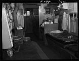 Interior of freight train way car, near Sheridan, Wyo.