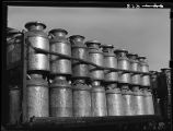 Milk cans on truck-Lincoln, Nebraska