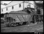 Loading car of coal at tipple of Truax-Traer Coal Co., Fiatt, Il.