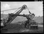 Loading truck with coal, Truax-Traer Coal Co., Fiatt, Il.