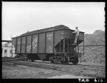 Riding a car of coal down into the yards-Truax-Traer Coal Co., Fiatt, Il.