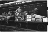 Workers unloading baggage, Union Station, Chicago, May 1948