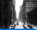 LaSalle St. north of the Board of Trade (Jackson Blvd.), Chicago, IL, ca. 1910.