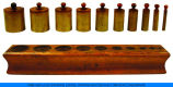 Montessori Cylinder Block, base and inserts