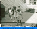 Students playing outside at the Children's School of the National College of Education.(NEW)
