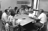 Lloyd Ahlem with Students in Classroom (1973?)