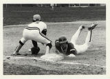 Baseball North Park College, 1983, Slide into Third, Photo by B. Bruckner