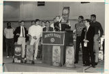 North Park Men's Pasketball Trophy ceremony, photo Kurt Johnson 1987