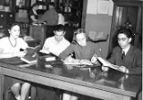 Students in Old Main Library (1948?)