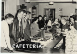 Students in line at school Cafeteria