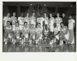 North Park College Men's Basketball, 1989-90.  Scott Orend, Dan Hill, Chris Chambliss, Chris...