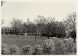 Front Campus looking at Old Main, Hamming Hall, and Wilson Hall in spring, 1988